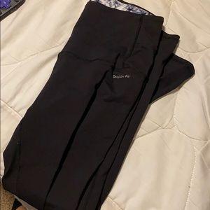 Super high rise black workout leggings